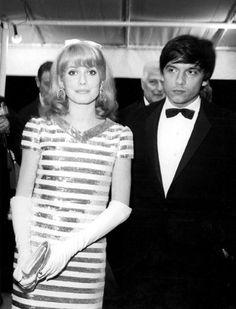 Catherine Deneuve & David Bailey at Cannes 1966