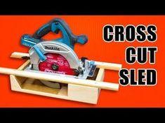 (7) Portable Circular Saw CrossCut Sled: Woodworking Jig - YouTube