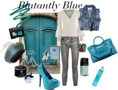 """Blatantly Blue"" by rhinestonesandrouge on Polyvore"