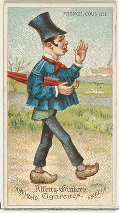 """Trade cards from the """"World's Dudes"""" series (N31), issued in 1888 in a set of 50 cards to promote Allen & Ginter brand cigarettes."""
