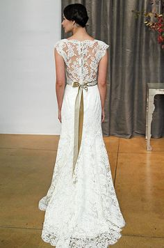 gorgeous open-back lace gown from Judd Waddell