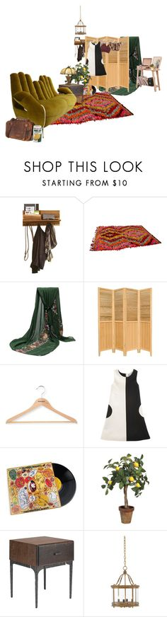 """after hours"" by sadmothgirl ❤ liked on Polyvore featuring interior, interiors, interior design, home, home decor, interior decorating, Tulu, PERIGOT, Lisa Perry and Nuevo"