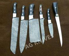 AG Custom Made Damascus Knives Knives Set & One steel Fillet Knife Pocket Knife Brands, Best Pocket Knife, Cooks Knife, Chef Knife, D2 Steel, Types Of Knives, Fillet Knife, Damascus Knife, Handmade Knives