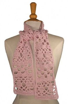 Maggie's Crochet · Lacy Cotton Scarf Pattern