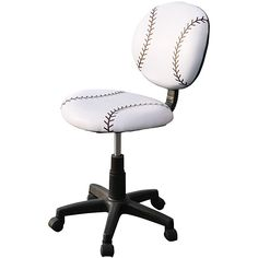Perfect for baseball lovers, the baseball office chair is comfortable and adds a touch of you to your office. With an adjustable height, wheels, and a foam cushion seat, you have a comfortable desk chair that can be just the way you like it.