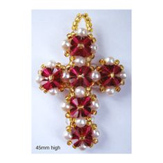 Crystal Beaded Cross Pattern | Bead-Patterns.com