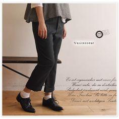 【Veritecoeur ヴェリテクール】cuffed pants / カフス パンツ (vc-1136)
