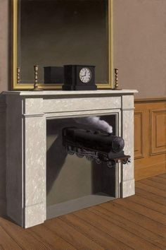 René Magritte - Time Transfixed, 1938. Olio su tela, 147 x 98.7 cm. Art Institute of Chicago, IL, USA