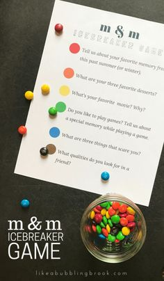 Looking for a get to know you game for your small group? Try this M&M game as your next icebreaker and grab my free printable to make it easy.