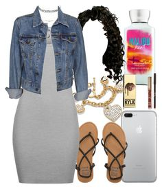 """"""""""" by foreverkaylah ❤ liked on Polyvore featuring Billabong, Palm Beach Jewelry, T By Alexander Wang, Charlotte Russe and Levi's"""