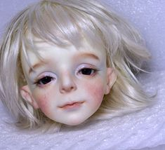 Tête adorable (marque ?) Ooak Dolls, Plush Dolls, Enchanted Doll, Unique Drawings, Draw On Photos, Arte Horror, Anime Dolls, Face Characters, Creepy Dolls