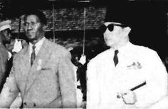 Ahmed Sékou Touré e Sukarno, presidente da Indonésia.
