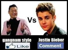Who is your favourite ??    a.Gangnam Style  b.Justin Bieber