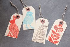 This one gives me a idea! Stamping on plain tags!