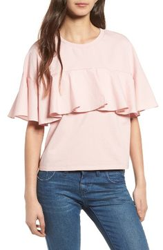 Free shipping and returns on Soprano Ruffle Tee at Nordstrom.com. A dressed-up take on a comfy stretch-cotton tee, this beruffled beauty will add sweet embellishment to even the most basic of looks.