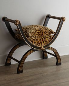 Shop Macayla Bench from John-Richard Collection at Horchow, where you'll find new lower shipping on hundreds of home furnishings and gifts. Animal Print Furniture, Animal Print Decor, Animal Prints, Chair Bench, Chair And Ottoman, Ottoman Footstool, Style Africain, Furniture Logo, Office Furniture