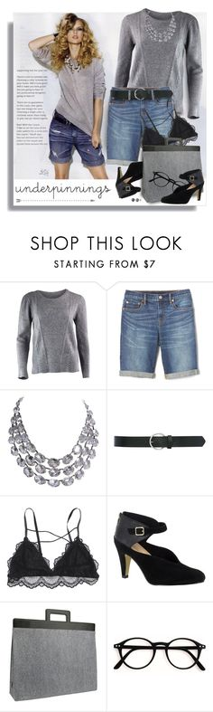 """The Prettiest Underpinnings"" by breathing-style ❤ liked on Polyvore featuring Gap, M&Co, Bella Vita and Mad Rabbit Kicking Tiger"