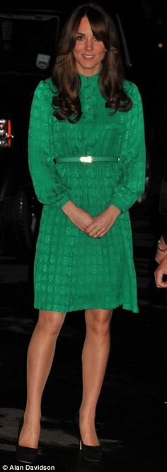 The Duchess of Cambridge wore a silk Mulberry dress, pictured, to the Natural History Museum today. November 27, 2012
