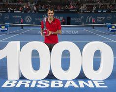 Roger Federer commence bien 2015. Le Suisse remporte le tournoi de Brisbane, sa 1000e victoire en carrière
