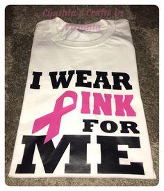 Custom Made T-Shirt Starting at $18  #iwearpink #Iwearpinkforme #iwearpinkformymom #cancermonth #cancerawareness #octobercancerawarenessmonth #cynthiascraftsinvirginia #smallbusiness #tshirt #stahls