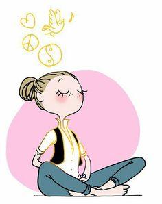 Yoga Girls 378654281154269302 - Emma TISSIER – Agence Virginie Plus Source by adelinepattaroz Yoga Kunst, Yoga Illustration, Little Buddha, Yoga Art, Ashtanga Yoga, Illustrations, Cute Art, Peace And Love, Art Drawings