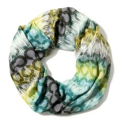 Coach Op Art Ikat Infinity Scarf ($98) found on Polyvore
