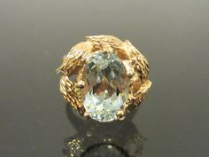 Vintage 1960s 14K Solid Yellow Gold 3ct by wandajewelry2013