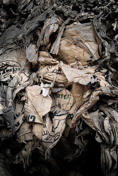 Photographer Turns Recycled Paper Into Abstract Art - DesignTAXI.com