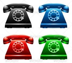 Realistic Graphic DOWNLOAD (.ai, .psd) :: http://jquery-css.de/pinterest-itmid-1007888151i.html ... Retro Telephones ...  black, blue, call, classic, dial, front, green, icon, illustration, object, office, old, phone, red, retro, ring, set, shiny, style, symbol, telephone, vector, view, vintage  ... Realistic Photo Graphic Print Obejct Business Web Elements Illustration Design Templates ... DOWNLOAD :: http://jquery-css.de/pinterest-itmid-1007888151i.html