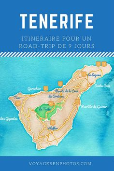 Itinéraire de 9 jours pour découvrir l'île de Tenerife : randonnées et découverte du patrimoine de l'ile, les plus beaux villages, le Teide... City Trip Europe, Santa Cruz Tenerife, Island Travel, Destinations D'europe, Vietnam Voyage, Europe Holidays, Voyage Europe, Grand Tour, Canary Islands