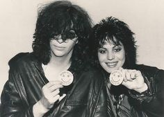 Joan Jett and Joey Ramone Joey Ramone, Ramones, Phish Posters, Band Posters, Gig Poster, Music Posters, Dead Band, 80s Punk, Outfit