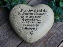 Grabschmuck, Gedenkstein, Herz,Grabstein