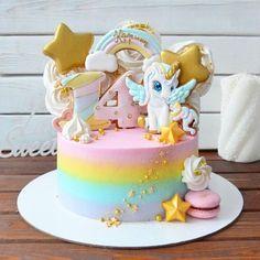 chocolate mug cake 1st Bday Cake, Birthday Cake Girls, Buttercream Cupcakes, Fondant Cakes, Pretty Cakes, Cute Cakes, Bolo My Little Pony, Drip Cakes, Cake Decorating