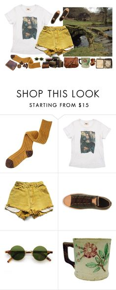 """""""mustard mona lisa"""" by kita-orianna ❤ liked on Polyvore featuring Mihoko Saito, PAM, Converse, Hipster, indie, retro and bookworm"""