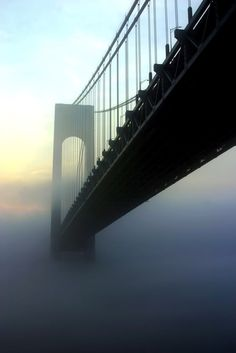 I used to know, when I was little, after we crossed the Verrazano we would be back in Brooklyn!!!                      Verrazano Bridge