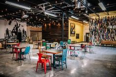 Set in a huge warehouse building in Midtown Atlanta, Monday Night Brewing is just as easy a spot to grab a quick beer as it is to throw a big bash. | Photo Credit: Caroline Fontenot