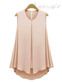Doresuwe.com SUPPLIES 女子力UP! 簡単なデザイン無地無袖心地よいtシャツ オシャレトップス (2)