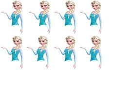 Elsa Cupcake Toppers