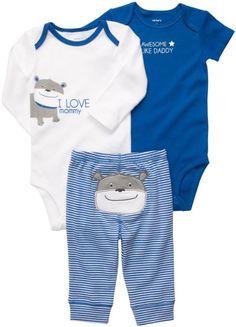 Amazon.com: Carter's Boys 3-piece Bodysuit Pants Set: Clothing