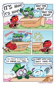 A page featured in my @artbaltazar @awyeahfranco Q about @DarkHorseComics Itty Bitty Hellboy