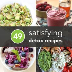 49 Detox Recipes (That Actually Contain Food) It's time to stop fearing the detox—start the holiday season the right way with some of these healthy (and, more importantly, delicious) recipes. Healthy Snacks, Healthy Recipes, Delicious Recipes, Amazing Recipes, Clean Eating Recipes, Cooking Recipes, Cooking Fish, Good Food, Yummy Food