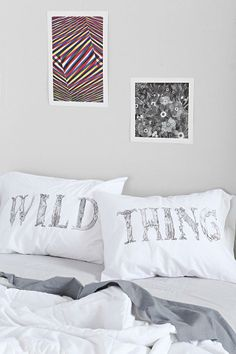 The Rise And Fall Wild Thing Pillowcase - Set Of 2 #urbanoutfitters