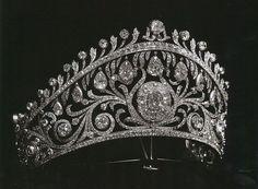 Princess Olga of Yugoslavia's tiara, received from her mother ...