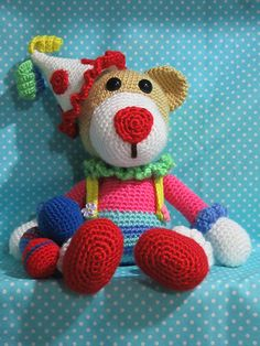 Chuckles the Clown  | Amigurumi design contest | by Little Bit by Mema