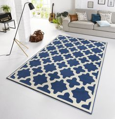 Capri Cream/Dark Blue Rug