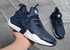 37530eae6ed6 Mens Womens Nike Air Huarache Drift Premium Running Shoes Navy Blue White  Nike Air Huarache