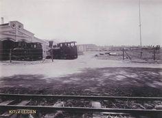 Locomotieven en trein op suikeronderneming...