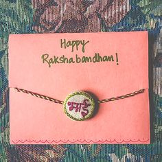 This Raksha Bandhan, gift vibrant handicraft rakhis to your brother. Ultimate Rakhi Guide has over 150 rakhis - modern, kids, crochet & more. Diy Rakhi Cards, Friendship Belt, Handmade Rakhi Designs, Handmade Crafts, Handmade Jewelry, Rakhi Making, Happy Rakshabandhan, Rakhi Gifts, Beaded Rings