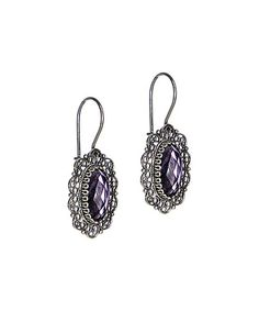 Loving this Ottoman Silver Collection Amethyst & Sterling Silver Filigree Oval Earrings on #zulily! #zulilyfinds