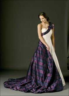 Our tartan wedding collection of Tartan Spirit Couture wedding dresses and dresses for bridesmaids and mothers of the bride are perfect for Scottish themed weddings.